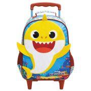 """Mochila Escolar infantil Com Rodinhas Baby Shark 14"""" - Xeryus"""
