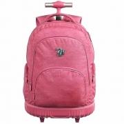Mochila Escolar para Meninas com Rodinhas - Pink - Capricho