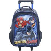 """Mochila Heróis com Rodas Escolar 16"""" - Liga da Justiça - Xeryus"""