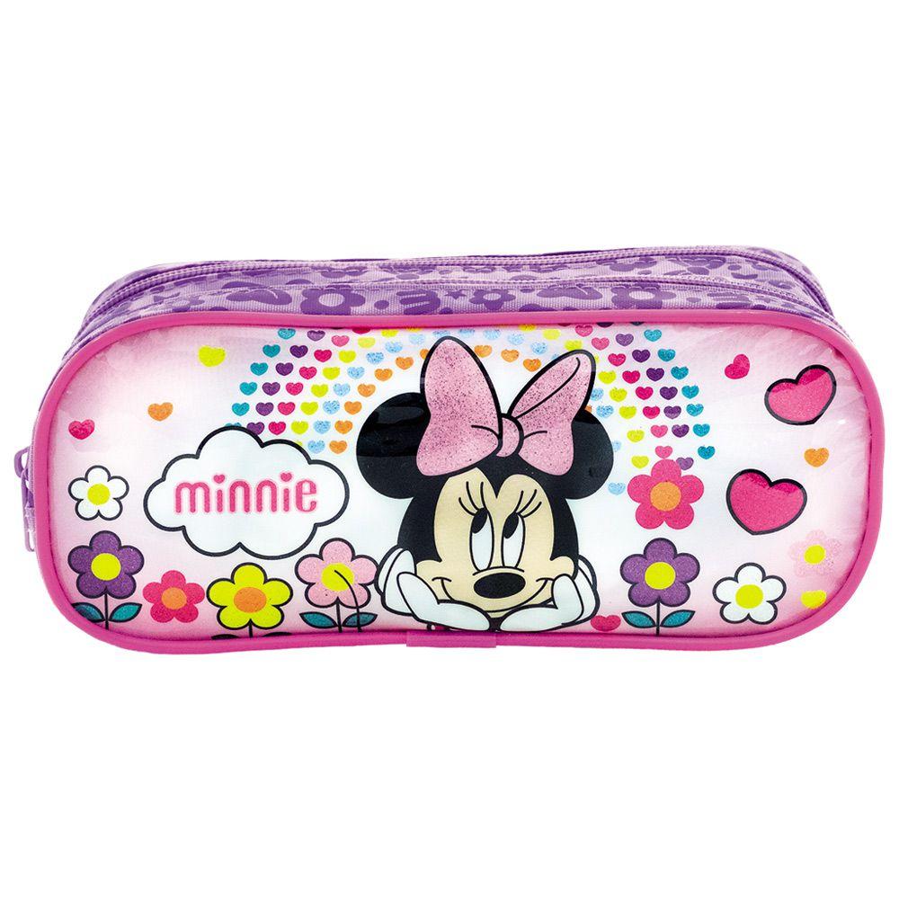 Estojo Duplo Escolar da Minnie para Meninas - Xeryus