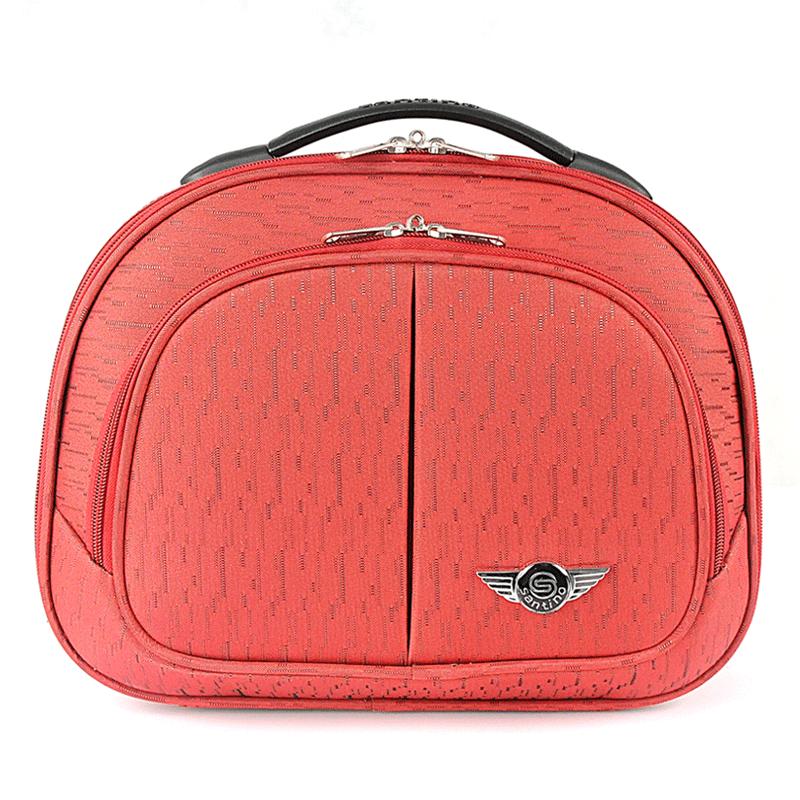 Frasqueira de viagem, maleta de mão organizadora de bagagem, necessaire para maquiagem - Santino