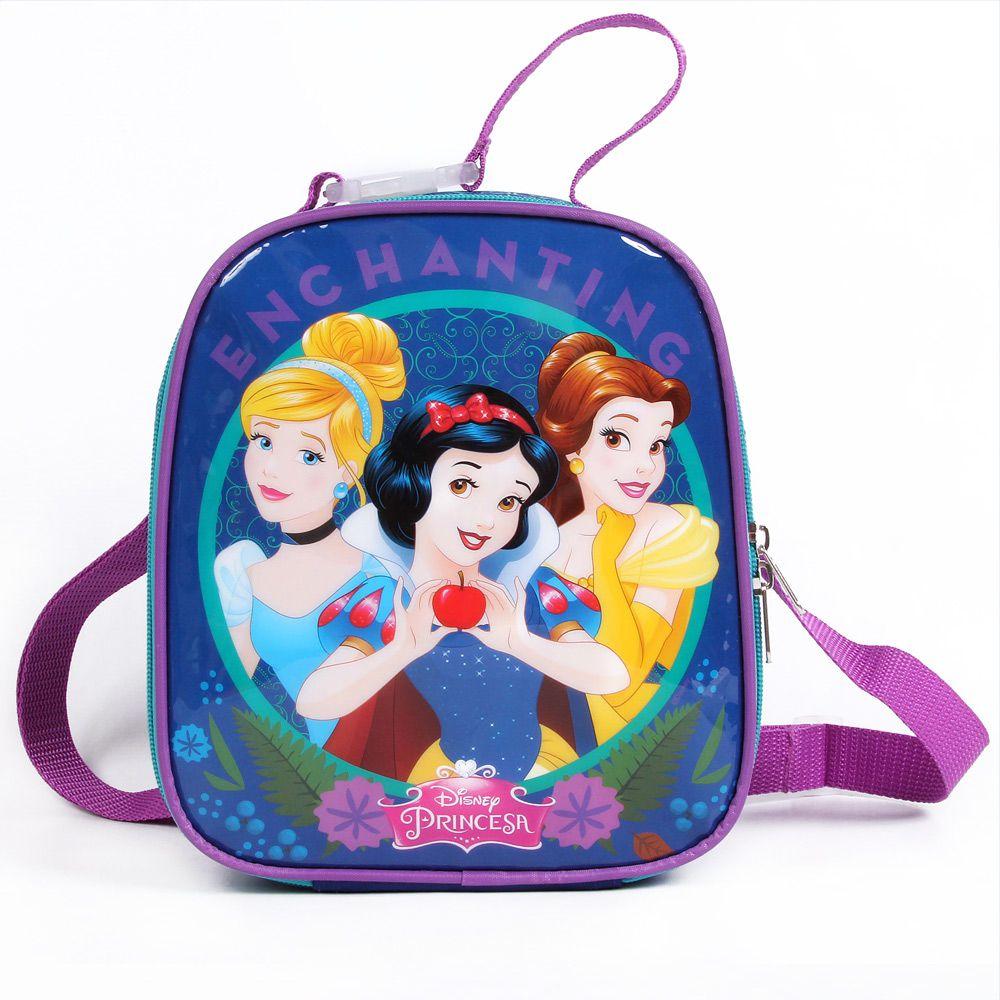 Lancheira Escolar Infantil Cinderela, Branca De Neve E Bela, Para Meninas - Princesas da Disney - Dermiwil