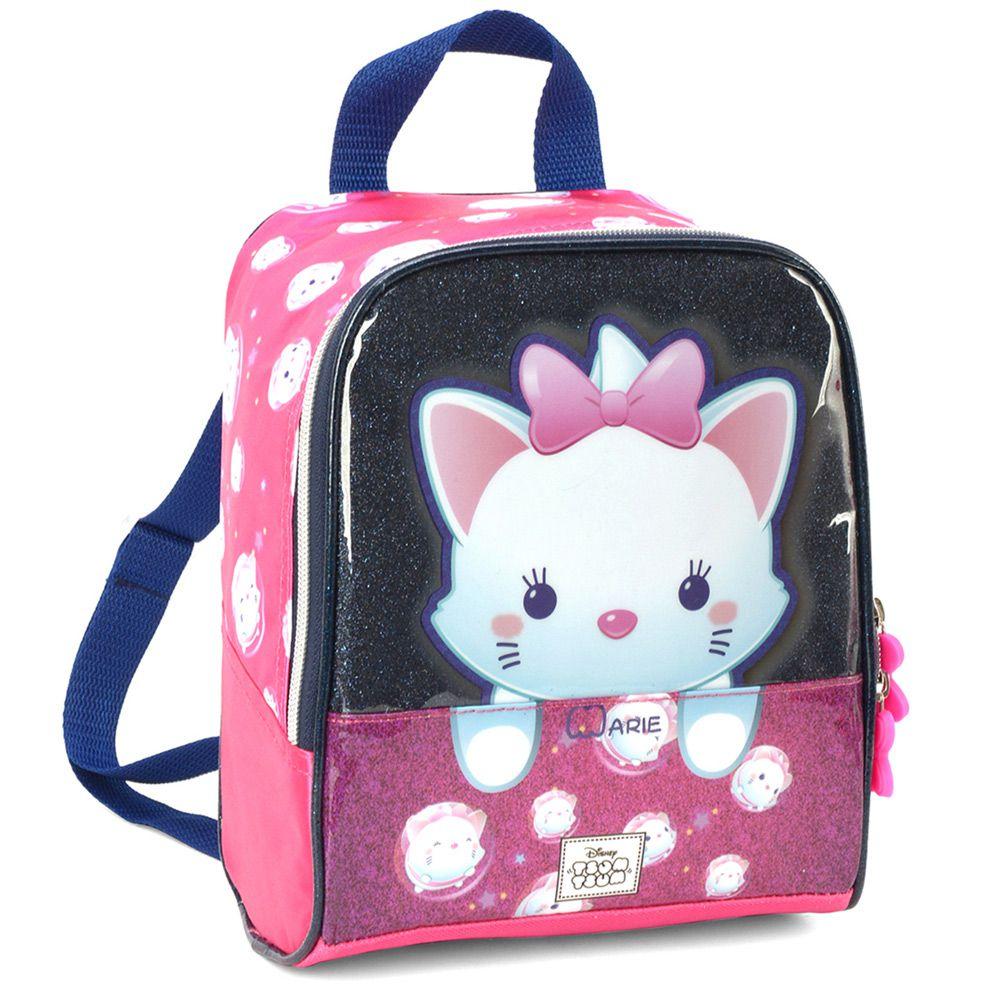 Lancheira Escolar Infantil Para Meninas Gatinha Marie - Tsum Tsum - Luxcel