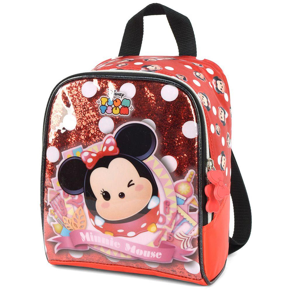 Lancheira Escolar infantil Térmica para Meninas Minnie Mouse - Tsum Tsum - Luxcel