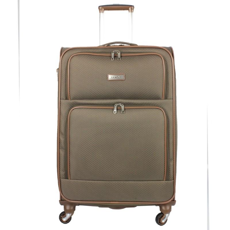 Mala de Viagem Grande (32kg) Impermeável com Cadeado TSA Rodas Giro 360 Graus - Ideal Soft - Lansay