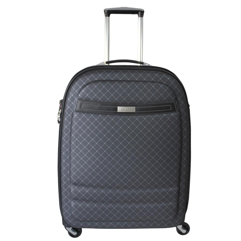 Mala de Viagem Média (23kg) em Vinil com Cadeado TSA Rodas Giro 360 Graus e Expansor - Saint Tropez - Lansay