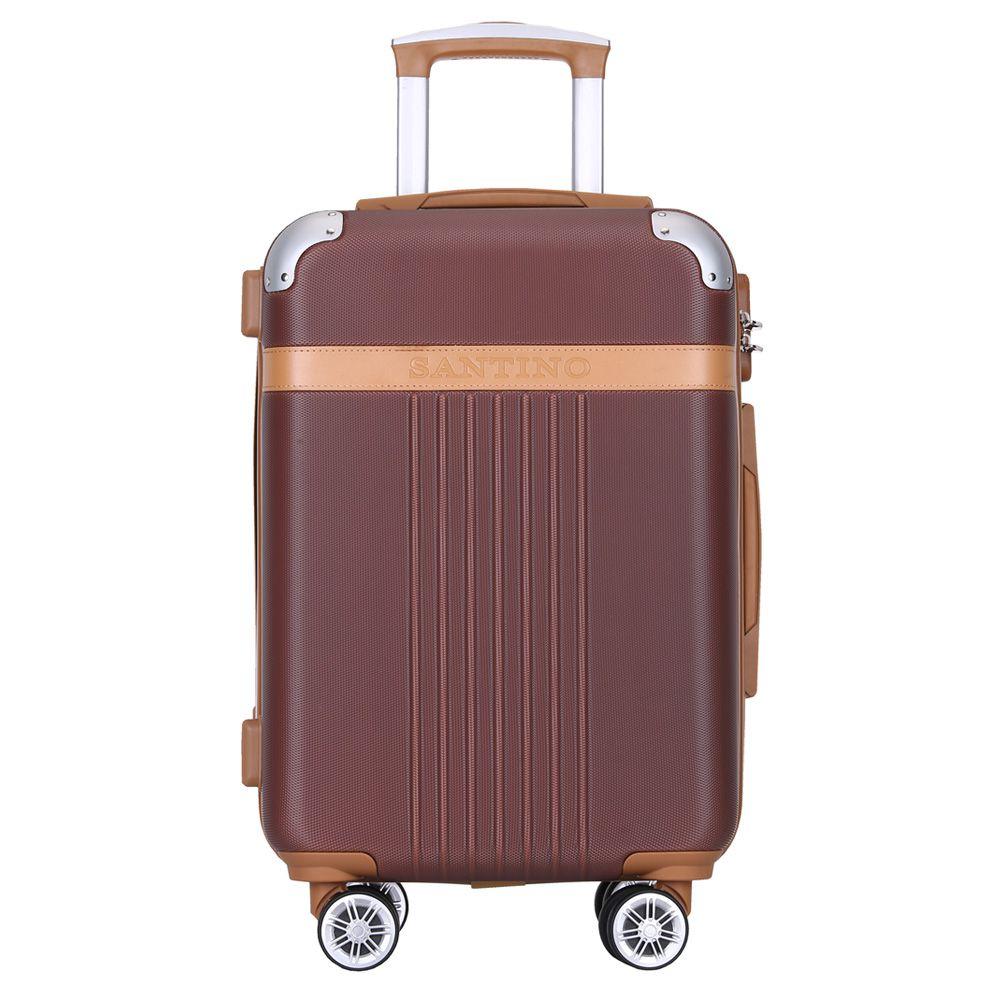 Mala De Viagem Média com Expansor Rígida Para 23 kg Com Rodas Duplas 360º E Cadeado Tsa - Athena - Santino