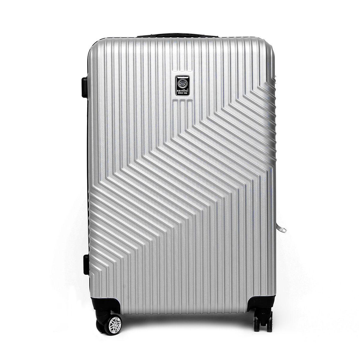 Mala de Viagem Rígida Grande (32kg) em ABS com Rodas Duplas 360º e TSA - Geometric - Santino
