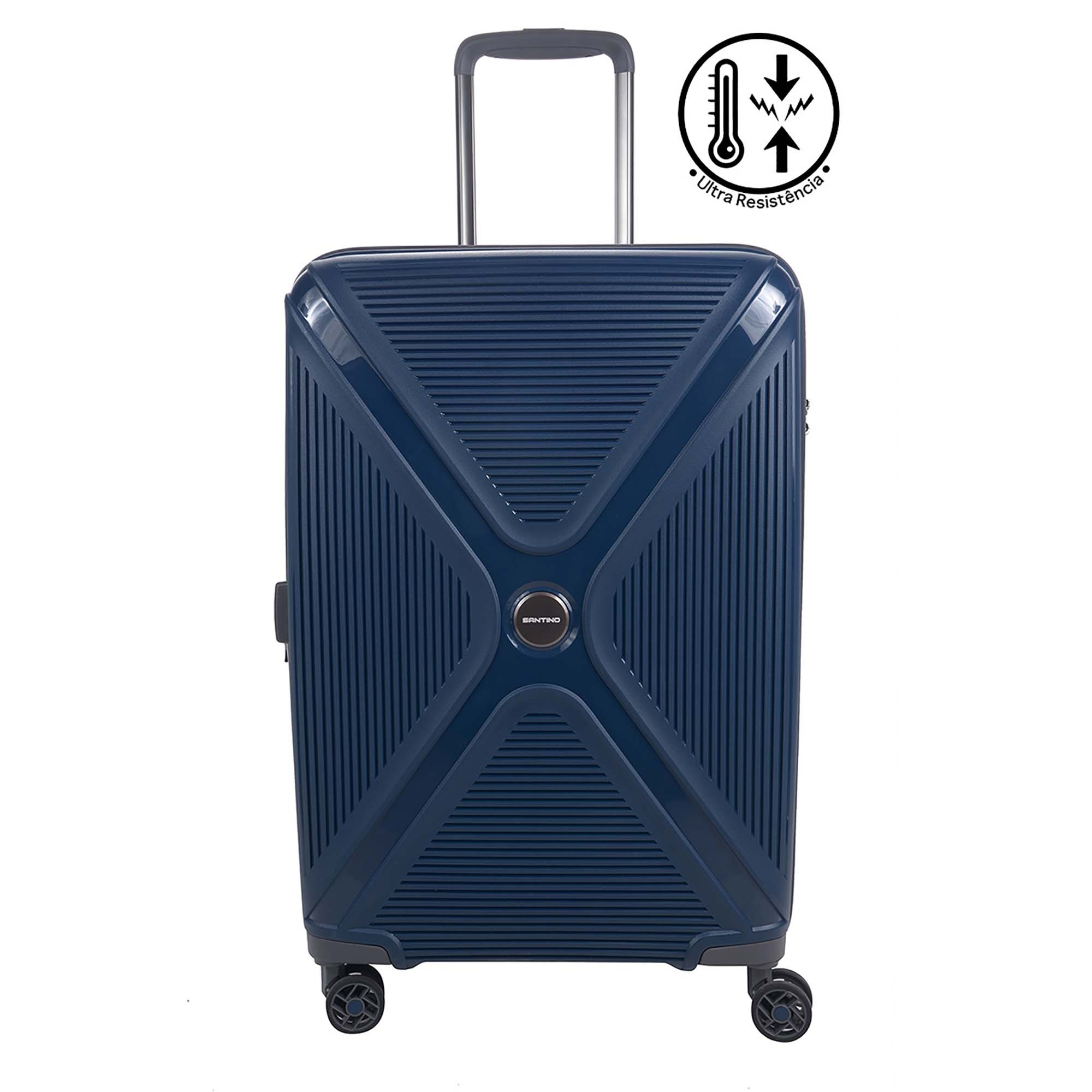 Mala Pequena de Bordo (10kg) para Viagem em Polipropileno Padrão Anac com Cadeado TSA - Zhuhai - Santino