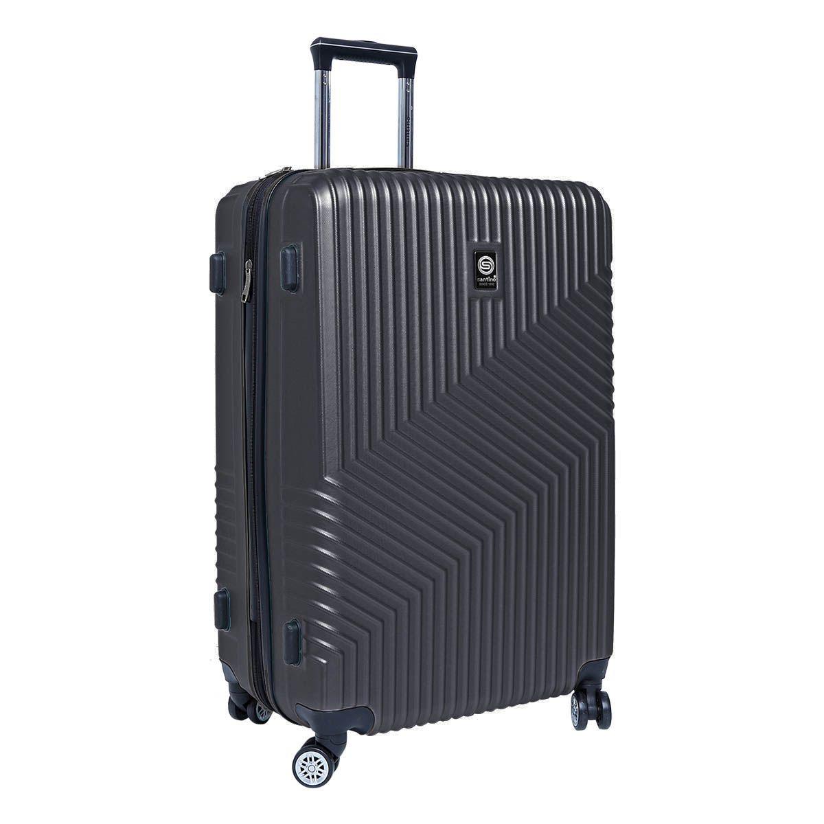 Mala de Viagem Rígida Média (23kg) em ABS com Rodas Duplas 360º e TSA - Geometric - Santino