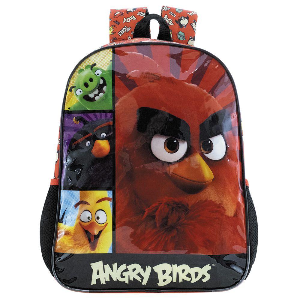 Mochila de Costas Escolar Infantil - Angry Birds - Xeryus