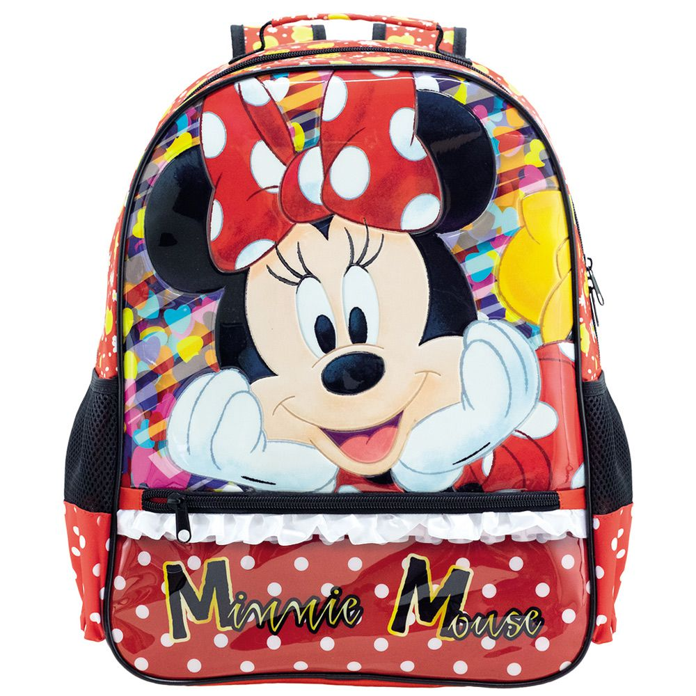"""Mochila Escola Minnie Infantil de Costas Impermeável 14"""" - Xeryus"""