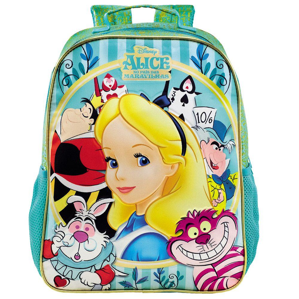 Mochila Escolar Alice no País das Maravilhas Infantil 14