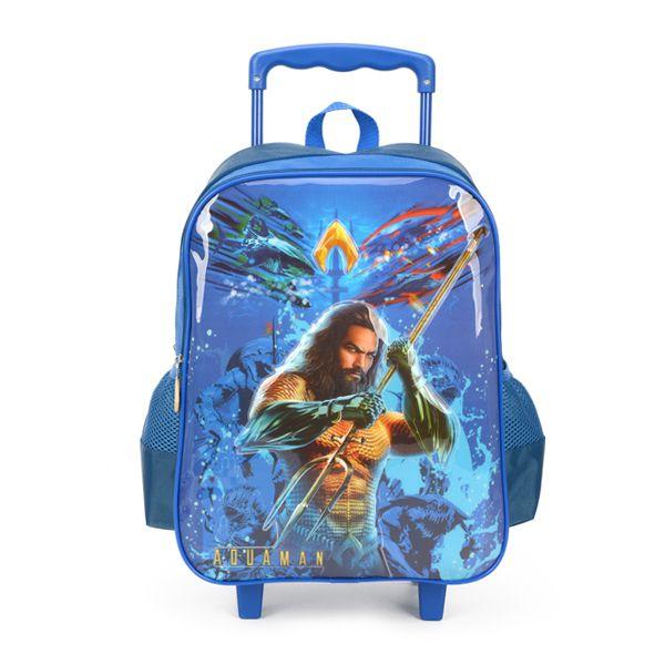 Mochila Escolar com Rodinhas Para Meninos - Aquaman - Luxcel