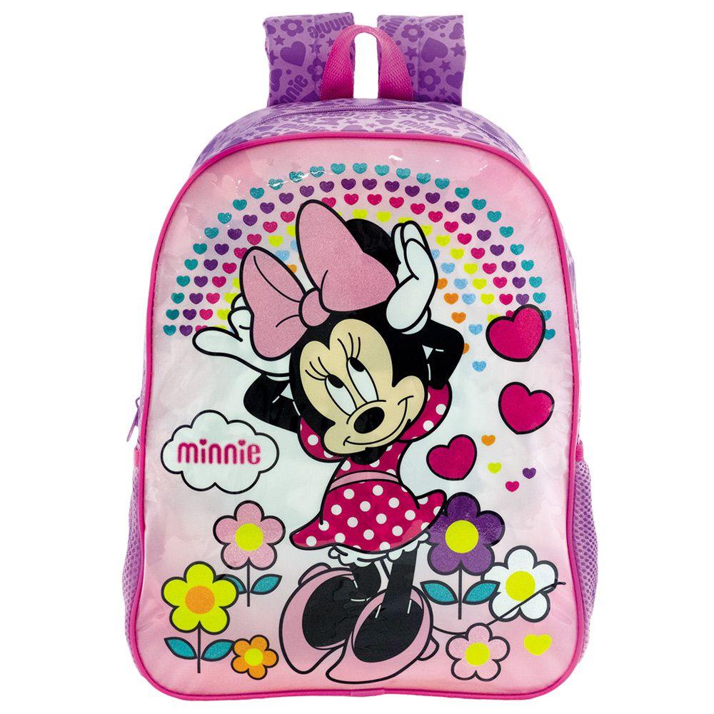 Mochila Escolar da Minnie Infantil de Costas 14