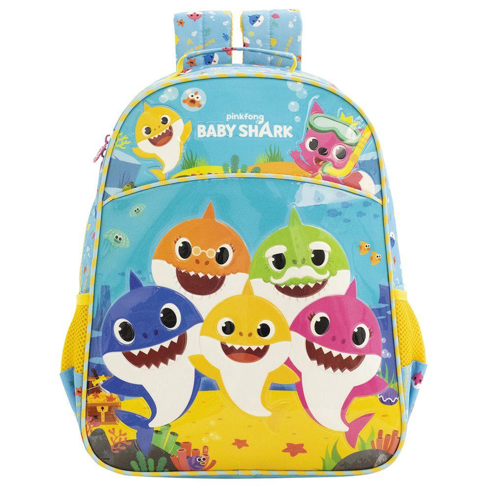 """Mochila Escolar De Costas 16"""" - Baby Shark - Xeryus"""