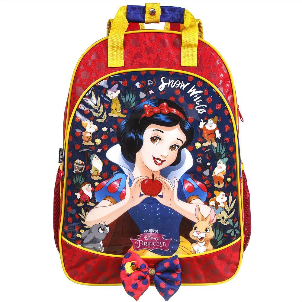 Mochila Escolar Infantil de Costas Branca de Neve - Princesas da Disney - Dermiwil