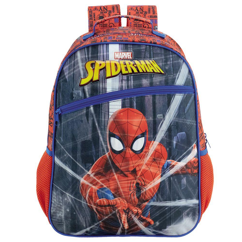 "Mochila Escolar Infantil 16"" Para Meninos - Homem aranha - Xeryus"