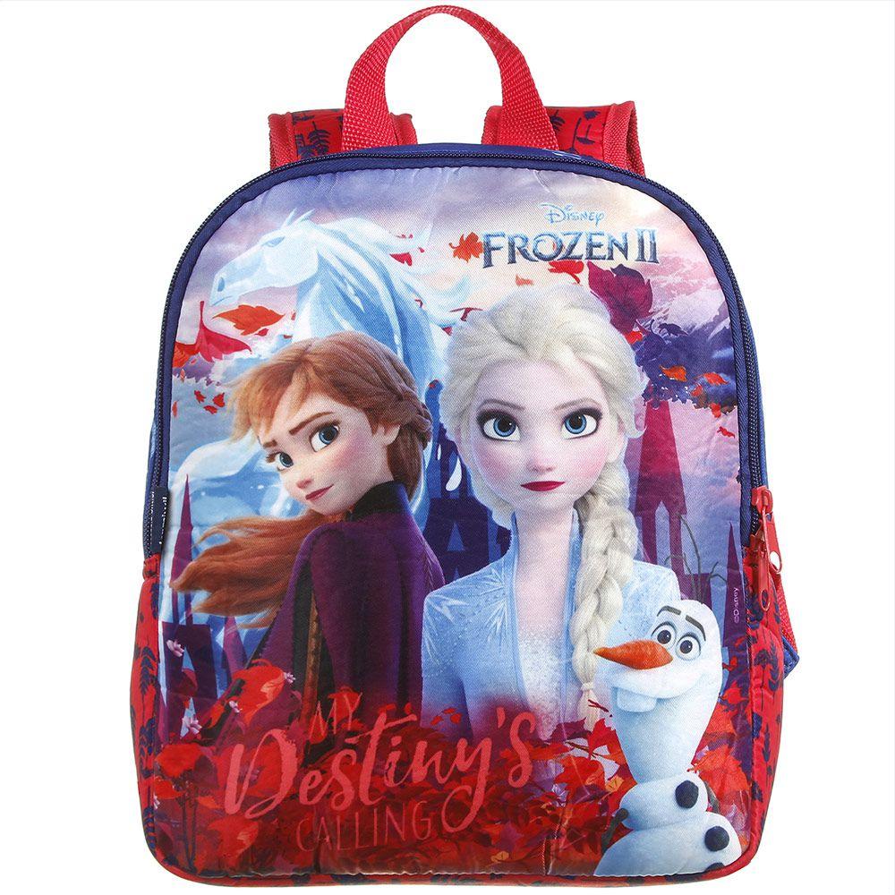 Mochila Escolar Infantil em Polinylon  Elsa e Ana - Frozen 2 - Dermiwil