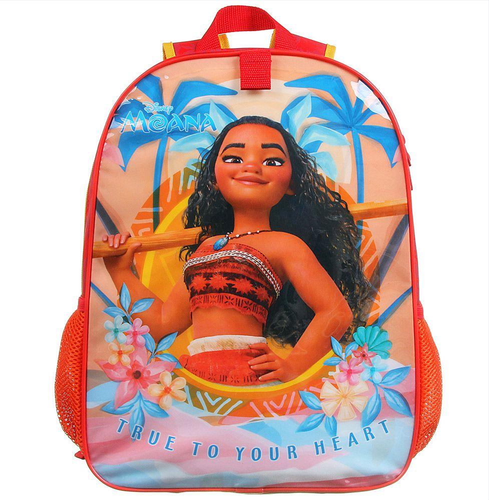 Mochila Escolar Infantil Impermeável de Costas Disney - Moana - Dermiwil