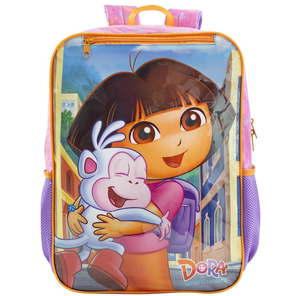 Mochila Escolar Infantil Para Meninas Dora Aventureira - Xeryus