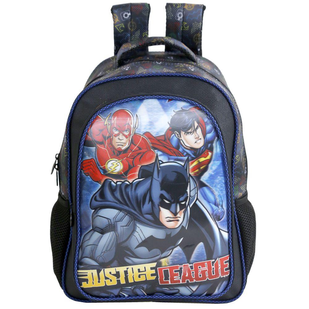 Mochila Escolar Infantil Para Meninos - Liga da justiça - Xeryus