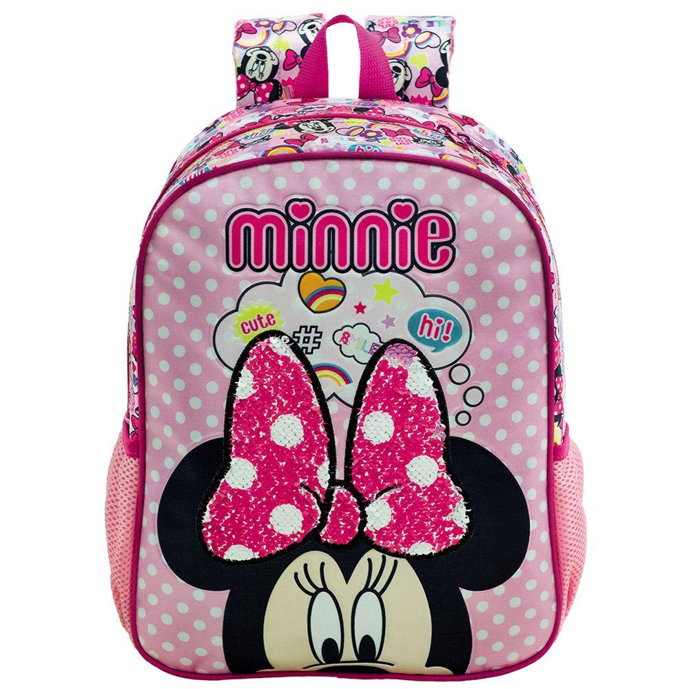 "Mochila Escolar Minnie para meninas 14"" de Costas - Xeryus"