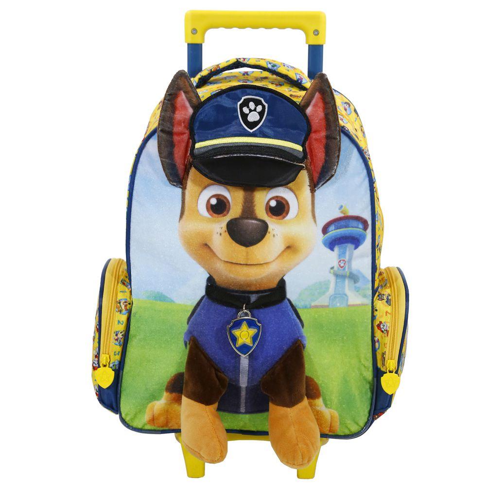 Mochila Escolar Patrulha Canina com Rodinhas Chase - Xeryus