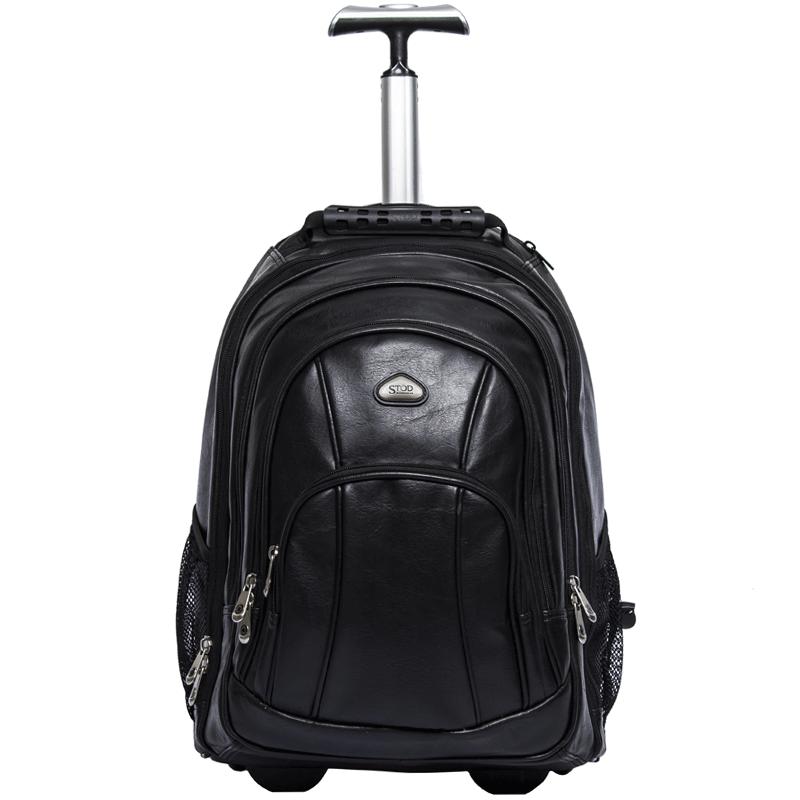 Mochila Executiva de Bordo com Rodas em PVC Para Notebook e Viagem - Stod