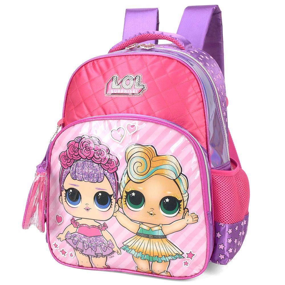 Mochila Infantil Escolar para Meninas - L.O.L. - Luxcel