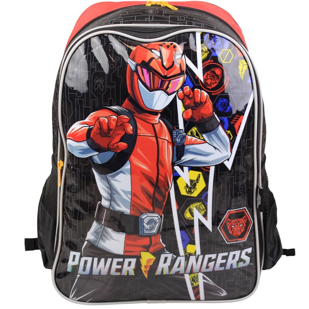 Mochila Infantil Escolar para Meninos - Power Rangers - Luxcel