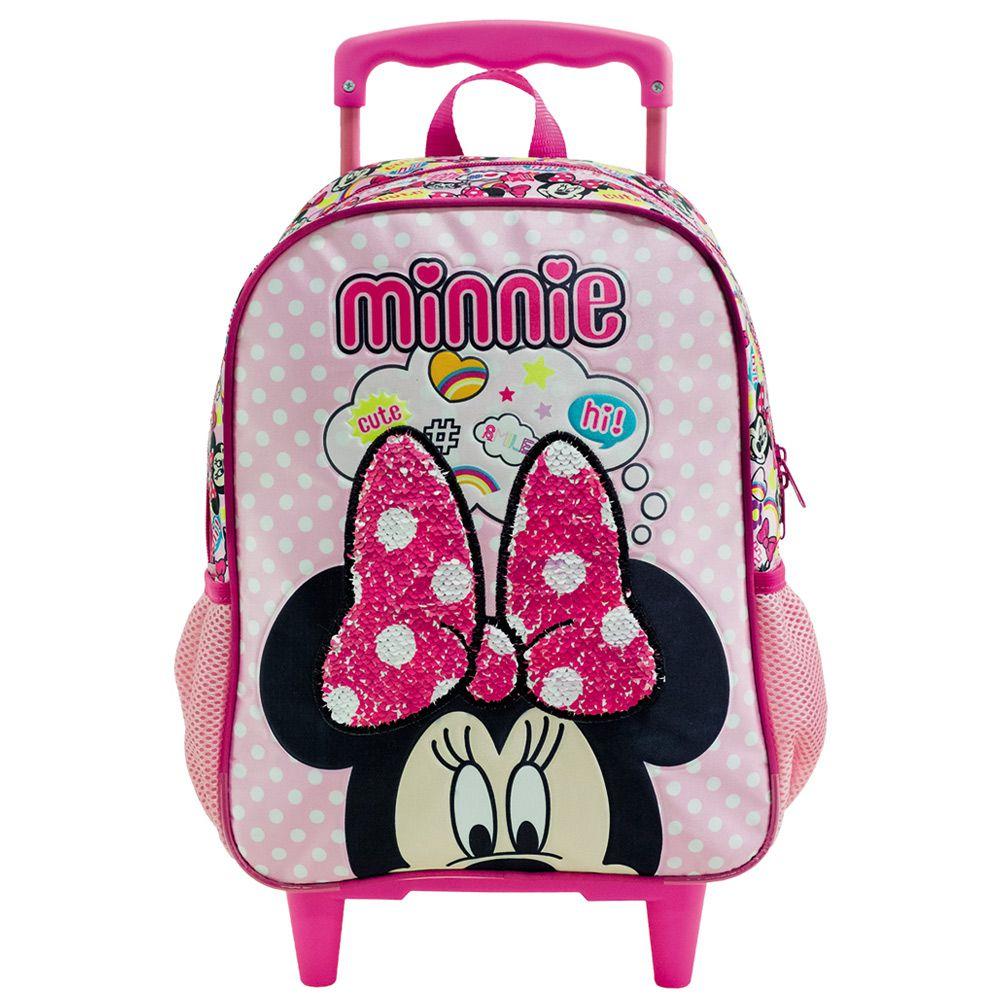 """Mochila Minnie Escolar Infantil com Rodinhas 16"""" - Xeryus"""