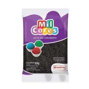 Açúcar Colorido Preto Mil Cores 500g