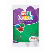 Açúcar Colorido Verde Mil Cores 500g