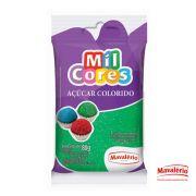 Açúcar Colorido Verde Mil Cores - 80g