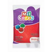 Açúcar Colorido Vermelho Mil Cores 500g