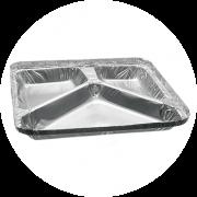 Bandeja Alumínio Retangular 3D Bricoflex - 900 ml