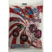 Pirulito Big pop cherry com recheio de chiclete 600g.