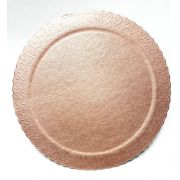 CAKEBOARD 28CM COR OURO ROSE - ULTRAFEST