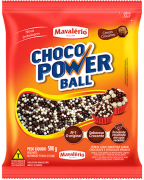 Cereal Drageado Micro Sabor Chocolate e Chocolate Branco Choco Power Ball 500g