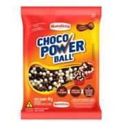 Cereal Drageado Mini Sabor Chocolate e Chocolate Branco Choco Power Ball - 80g