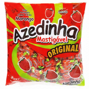 Bala Mastigável Azedinha morango Ice Kiss 600g - Cory