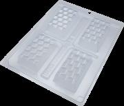 FORMA DE ACETATO COM SILICONE MINI TABLETE 3D