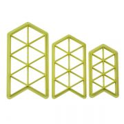 Cortador  Geométrico Triângulo com 3pçs