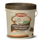 Doce de soro de leite com chocolate 4,8kg, Aurea.