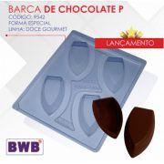 Forma de acetato com silicone barca de chocolate P