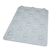 Forma de acetato com silicone bombom (mini trufa) SP813