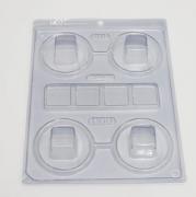Forma de acetato com silicone mini caixa quadrada