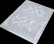 Forma De Acetato Com Silicone Tablete Triângulo