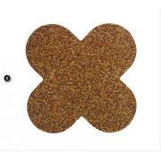 Forminha para doces 4 Pétalas Glitter Dourado 50 UN - NC Toys
